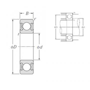 45 mm x 75 mm x 16 mm  NTN Radial Ball Bearing 6009LLU 45x75x16 Sealed Ball Bearing