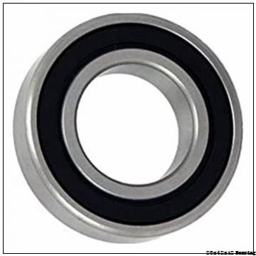 20x42x12 rubber seals chrome steel deep groove ball bearing 6004