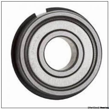 Chrome steel deep groove ball bearing 6004 with dimensions 20x42x12 mm