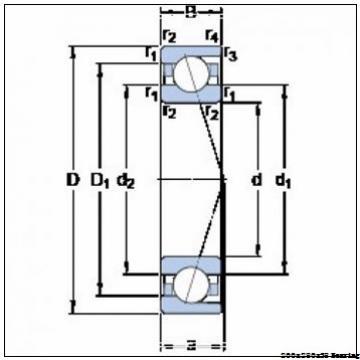 BA200-10 excavator bearing angle Contact Ball Bearing BA200-10 sizes 200x280x38 mm
