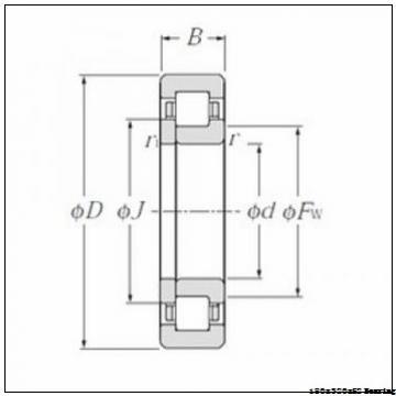NUP 236 EM Cylindrical roller bearing NSK NUP236 EM Bearing Size 180x320x52