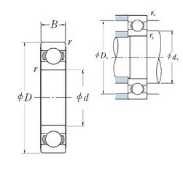 45 mm x 75 mm x 16 mm  Japan NSK Deep groove ball bearing 6009 DDU ZZ