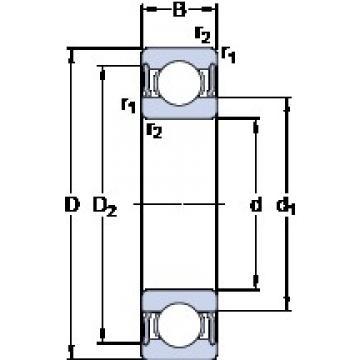 70 mm x 125 mm x 24 mm  SKF 6214-2RS1 Deep groove ball bearing 6214-RS1 Bearings size: 70x125x24 mm 6214-2RS1/C3