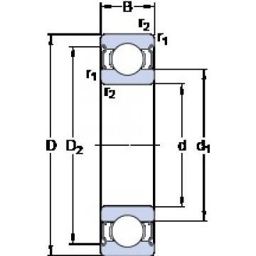 85 mm x 180 mm x 41 mm  SKF 6317-2Z Deep groove ball bearing 6317-Z Bearings size: 85x180x41 mm 6317-2Z/C3