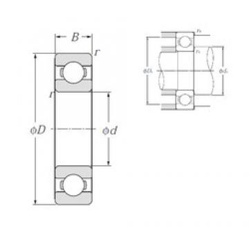 85 mm x 180 mm x 41 mm  Japan high precision deep groove ball bearing ntn 6317 llu bearing 85x180x41 mm